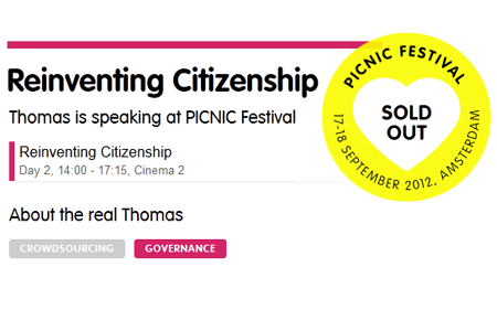 ontopica co-founder Thomas Krämer is speaking at PICNIC Festival 2012 on Tuesday 18 September 2012 from 14:00 to 17:15, Cinema 2